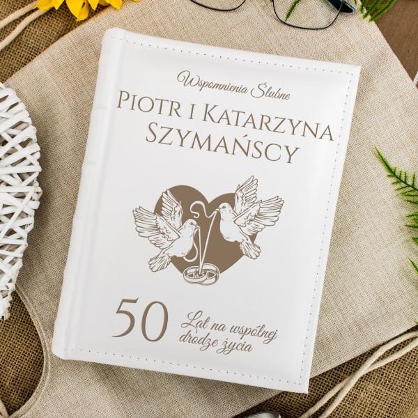 Album na 50 rocznicę ślubu z personalizacją na prezent