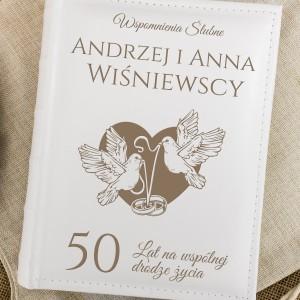 Album na zdjęcia na 50 rocznicę ślubu z imionami i nazwiskiem