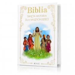 biblia dla dziecka na prezent z okazji chrztu świętego