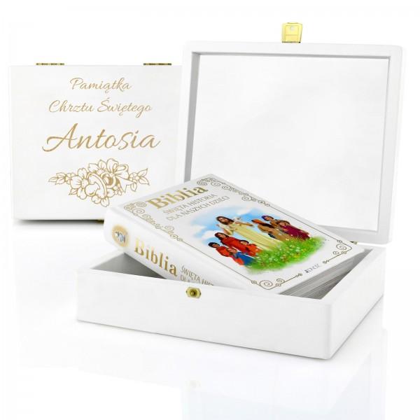 biblia dla dzieci na prezent z okazji chrztu świętego