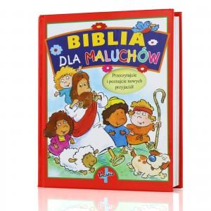 biblia dla dziecka z dedykacją na prezent dla dziecka na chrzest święty