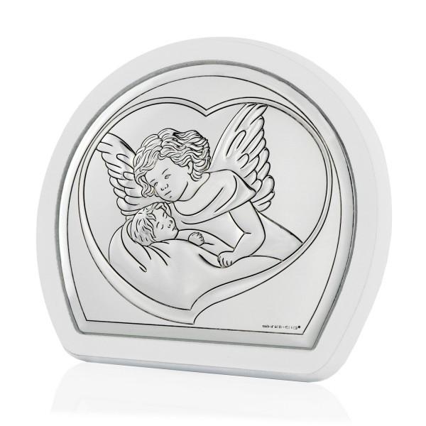 obrazek z aniołem stróżem na prezent dla dziecka na chrzest