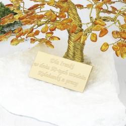 drzewko szczęścia z dedykacją na prezent na 50 urodziny