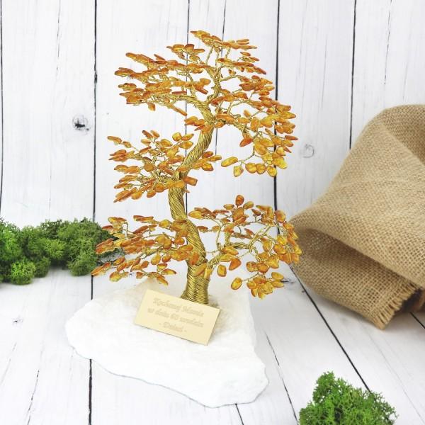 drzewko szczęścia z grawerem dedykacji na prezent