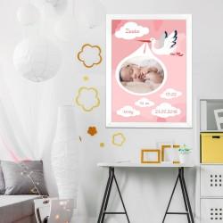obraz ze zdjęciem na prezent dla dziewczynki na chrzest