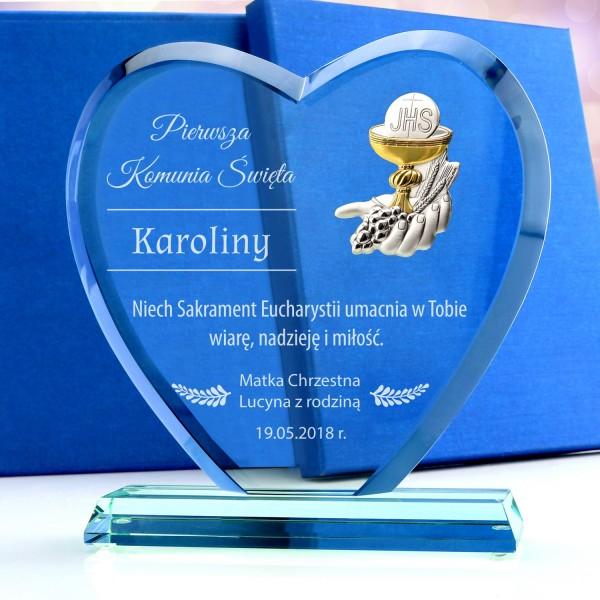 prezent na komunię dla dziewczynki statuetka z grawerem