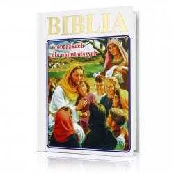biblia z grawerem na prezent na komunię