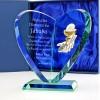 serce szklane z grawerem na prezent na komunię dla chłopca
