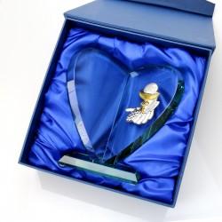 grawerowana statuetka ze szkła na prezent komunijny