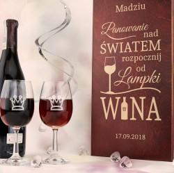 prezent na 30 urodziny siostry drewniana skrzynka na wino z grawerem