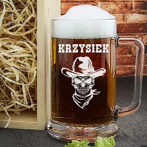 kufel do piwa z grawerem na prezent na urodziny dla niego