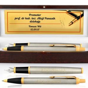 zestaw pióro i długopis z personalizacją na prezent