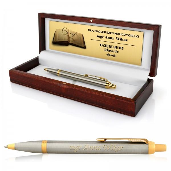 długopis parker z personalizacją na prezent dla nauczycielki