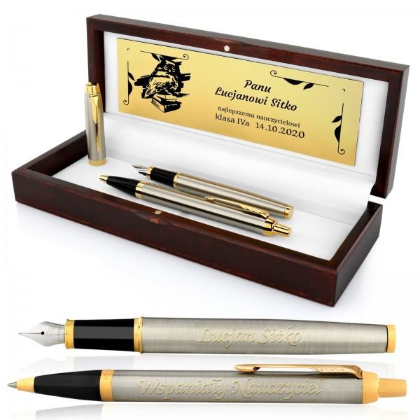 pióro wieczne i długopis z grawerem na prezent