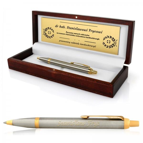 Grawerowany długopis na prezent na awans