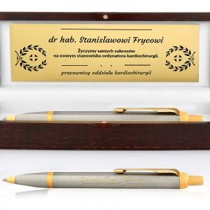 Długopis z grawerem dedykacji wysoka jakość drewniane etui