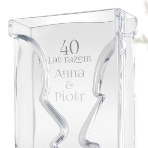 wazon z grawerem na 40 rocznicę ślubu