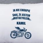 prezent dla motocyklisty poduszka z personalizacją