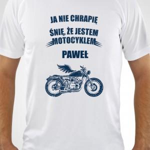 koszulka z nadrukiem imienia na prezent dla motocyklisty
