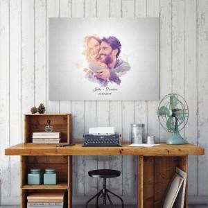 foto obraz na prezent dla pary