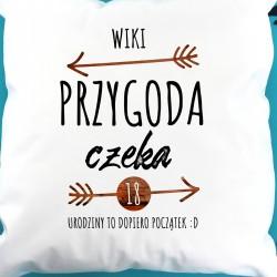 spersonalizowana poduszka na prezent na 18 urodziny dla dziewczyny