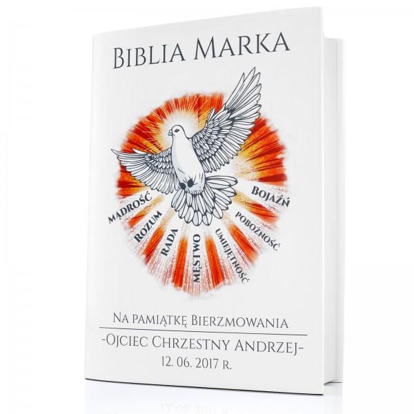 biblia w obwolucie na prezent na bierzmowanie