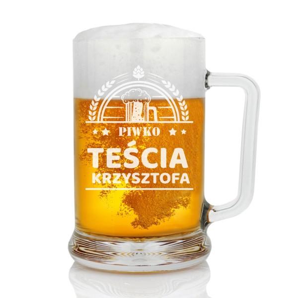 prezent dla teścia na urodziny kufel do piwa z grawerem
