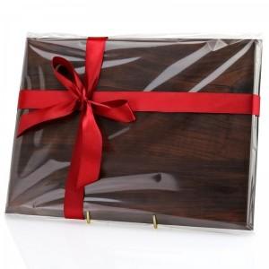 drewniany certyfikat z grawerem na prezent na 45 rocznicę ślubu rodziców