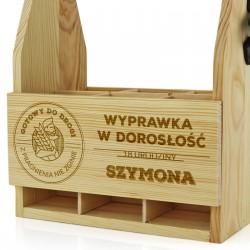 prezent na 18 dla kolegi drewniana skrzynka z grawerem