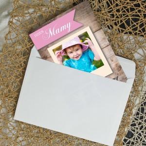 kartka na prezent na dzień matki ze zdjęciem