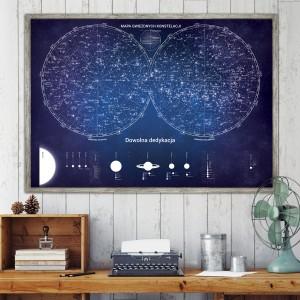 mapa gwiezdnych konstelacji