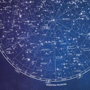 mapa gwiezdnych konstelacji na urodziny