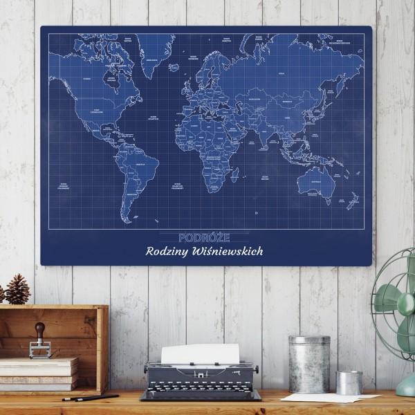 mapa podróżnicza na prezent dla pary