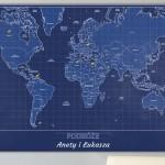 mapa podróżny na prezent