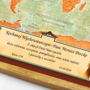 mapa świata na prezent dla nauczyciela