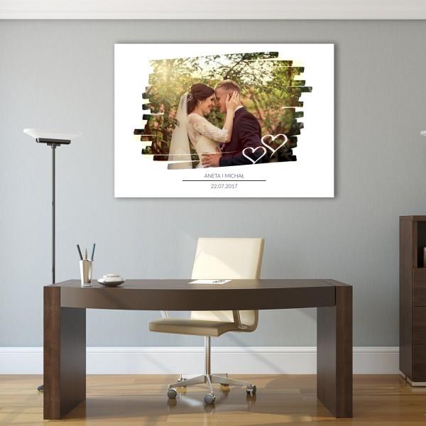 fotoobraz na prezent na ślub