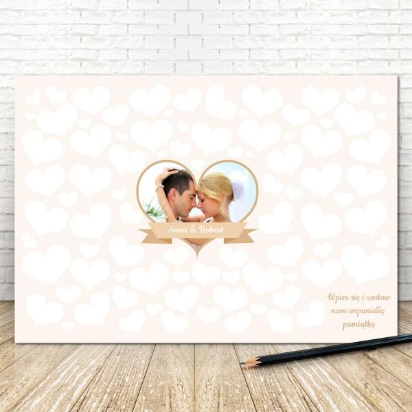 tablo ślubne dla pary młodej