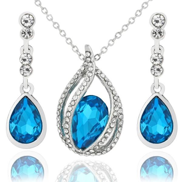 komplet damskiej biżuterii naszyjnik i kolczyki na prezent dla niej