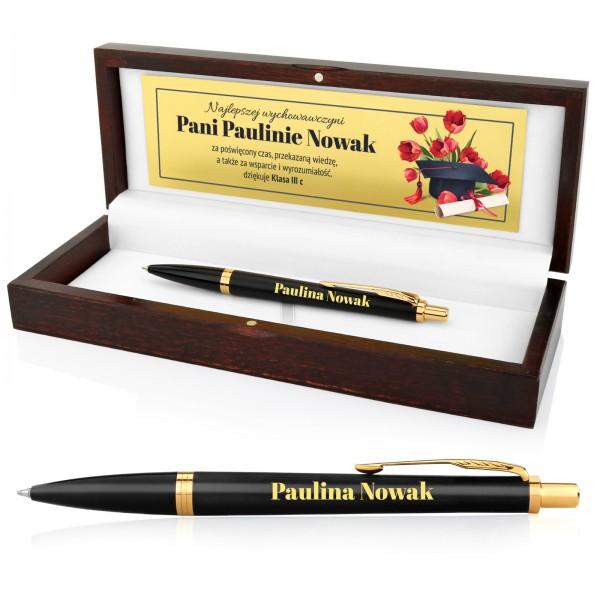 prezent na podziękowanie dla nauczyciela długopis parker z grawerem