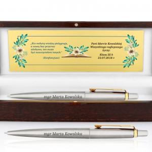 długopis z personalizacją na podziękowanie dla nauczyciela