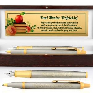 długopis i pióro parker z personalizacją na prezent