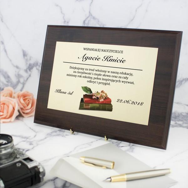 prezent dla wychowawczyni na koniec roku certyfikat z personalizacją