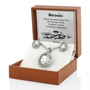 biżuteria na prezent w pudełku z dedykacją