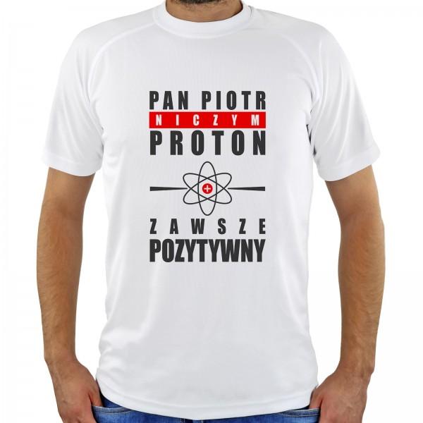 koszulka z nadrukiem imienia na prezent dla nauczyciela fizyki