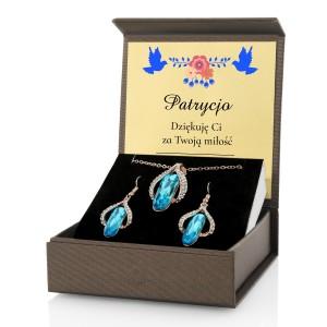 biżuteria damska w pudełku z dedykacją na prezent dla żony