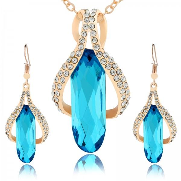 komplet biżuterii naszyjnik i kolczyki na prezent dla niej