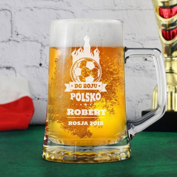 kufel na piwo na prezent dla kibica