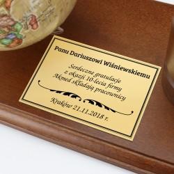 globus na prezent z okazji jubileuszu firmy