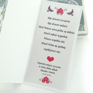 kartka na ślub z własnymi życzeniami