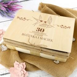 prezent na rocznicę ślubu dla rodziców zestaw do kąpieli z personalizacją
